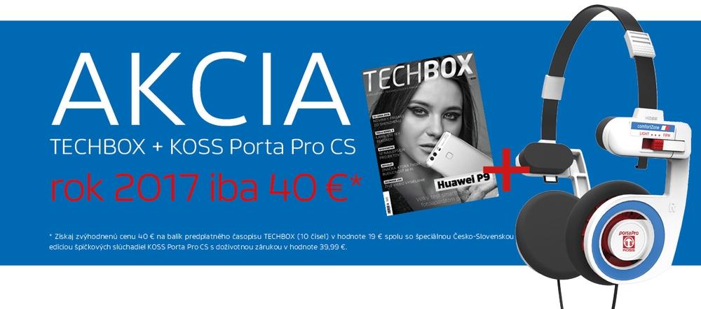 Predplatné TECHBOX + KOSS Porta Pro CS